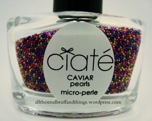 Ciaté Caviar Manicure - Lemon Fizz Kit - pearls - close up