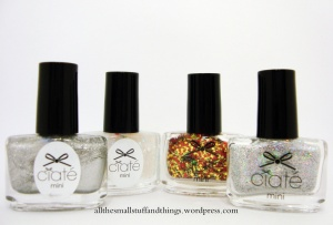 Ciaté - Mini Mani Month American Set - glitter, partikel, top coat, silber