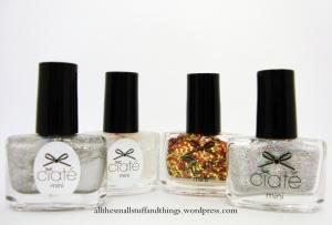Ciaté - Mini Mani Month American Set - glitter, partikel, top coat, silber