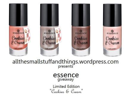 Essence Cookies and Cream LE giveaway