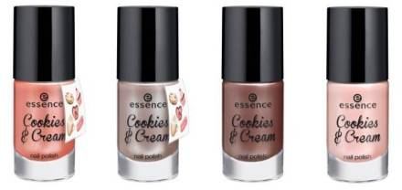 Essence Cookies and Cream LE giveaway polishes