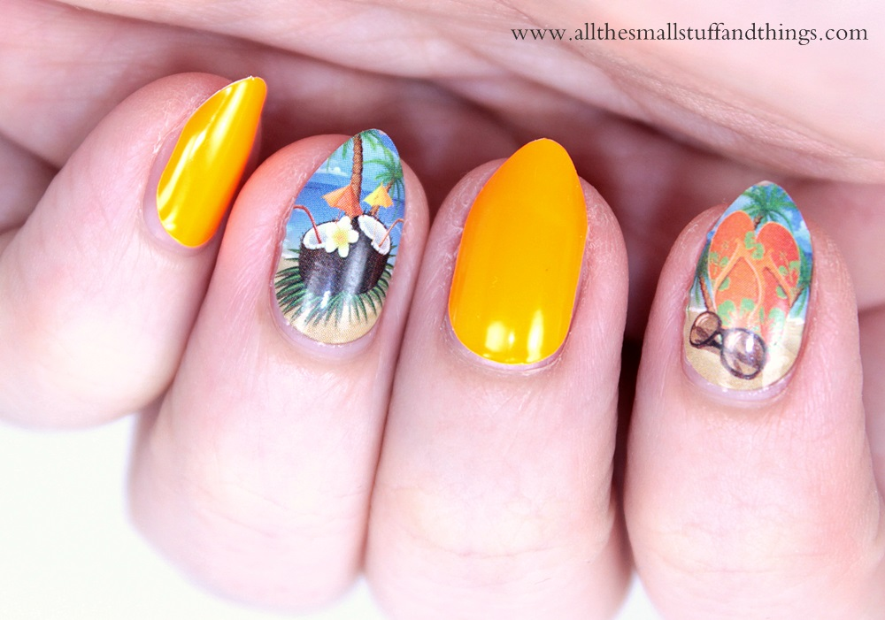 sponsored] California Nails – neon beach collection nail stickers ...