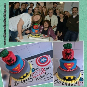 Marvel DC cake blog