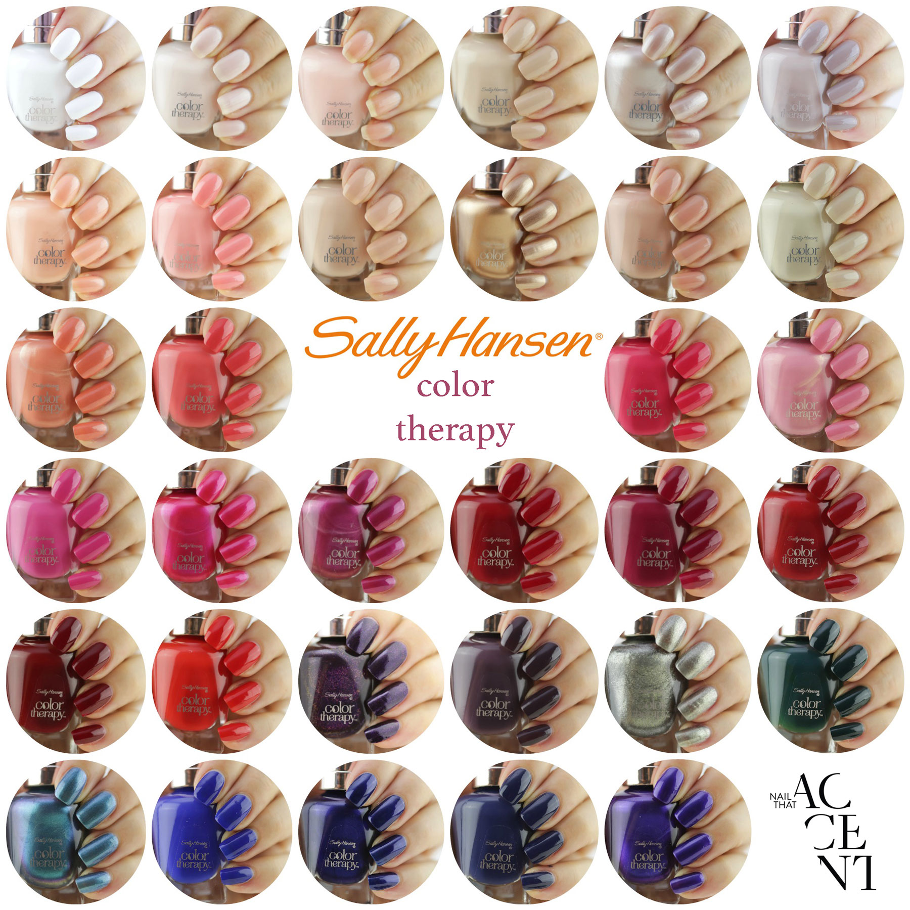 Colour therapy for digestion - Colour Therapy For Glowing Skin Sally Hansen Color Therapy Swatches